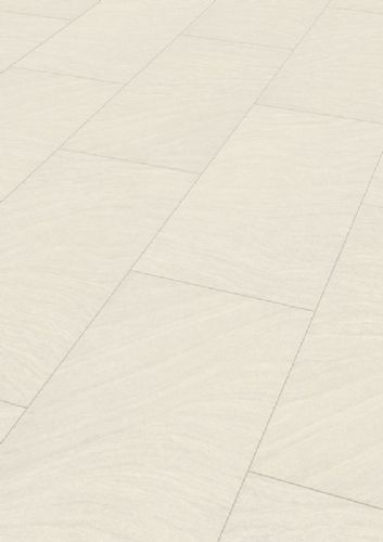 MEISTER LB85 Tile Effect White Sandstone Laminate Flooring 6047